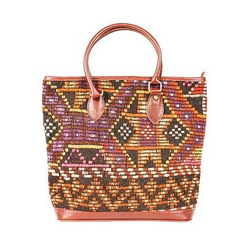 Kilim Tote Bag in Galaxy Black by Res Ipsa