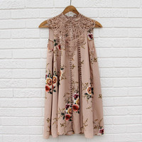 Lace Gypsy Dress in Desert Flower