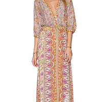 Spell & The Gypsy Collective Boho Blossom Maxi Dress in Yellow