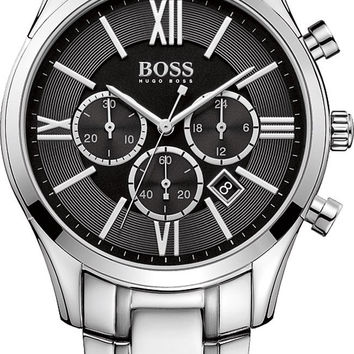 Hugo Boss 1513196 Stainless Steel Mens Watch - Black Dial