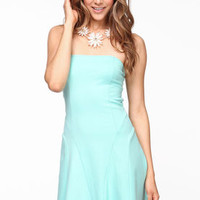 Pastel Cut Out Skater Dress - LoveCulture
