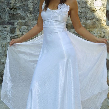 Simple alternative wedding gown Tina by KataKovacs on Etsy