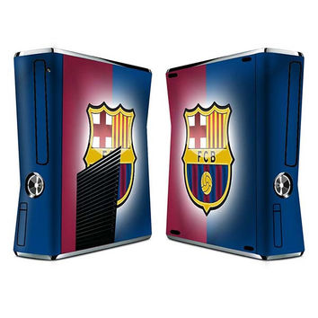 Barcelona FC sticker skin set for Xbox 360 slim