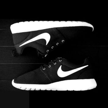 """NIKE"" Roshe Run Women Casual Sport Shoes Sneakers Black"