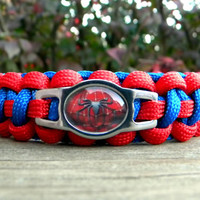 The Amazing Spider-Man Paracord Bracelet Custom Handmade-Wrist Measurement REQUIRED Please Read Listing Details