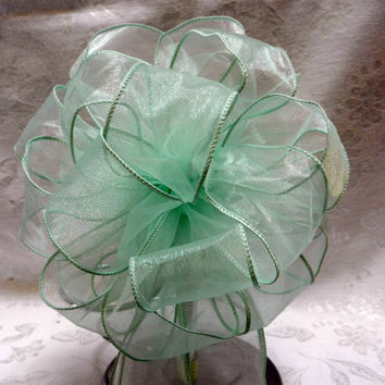 Mint  Wedding/ Pew Bows set of 10