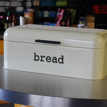 Bread Box For Kitchen - Bread Bin Storage Container For Loaves, Pastries, and More - Retro / Vintage Inspired Design - Cream Colored Yellow (Shades May Vary) - 16.75 x 9 x 6.5 Inches