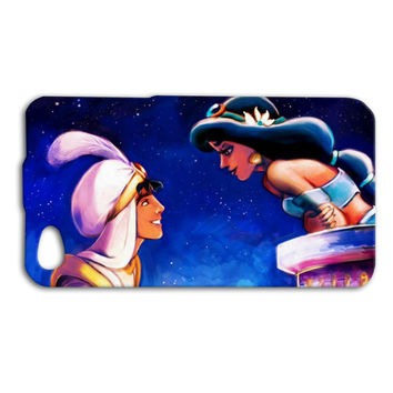 Aladdin Princess Jasmine Romantic Cute Custom Case for iPhone 5/5s and iPhone 4/4s