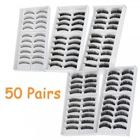 50 Pairs in 5 Styles New Makeup Fake False Eyelashes Eye Lash Set