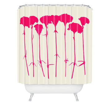 Garima Dhawan Carnations Pink Shower Curtain