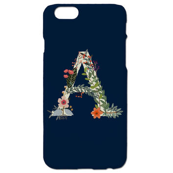 iPhone 6s Case - Monogram iPhone 6 Case - Floral Phone Case - Personalized Womens iPhone 5s Case - Samsung Galaxy S6 Case - Monogram