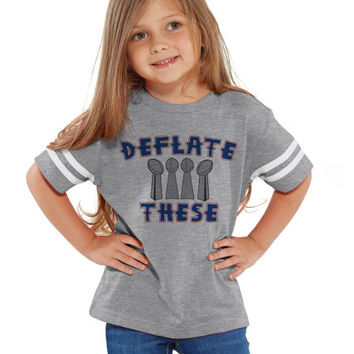 Deflate These Footballs Unisex NFL Kids Tee Jersey | Youth, Toddlers & Infants NFL Jersey Tees | Deflategate New England Patriots Boys Girls