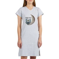 Night Owl Women's Nightshirt on CafePress.com