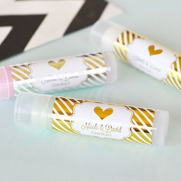 Personalized Lip Balm, Metallic Foil Lip Balm, Personalized Metallic Foil Balm
