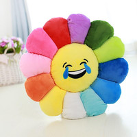 Colorful Emoji Sun Flower Pillows Cushion Cartoon Decorative