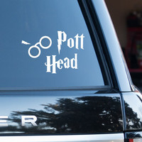 Pott Head Harry Potter (removable Vinyl Car Sticker)