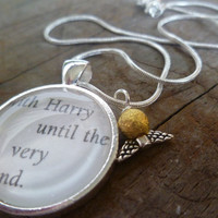 Harry Potter 'Until the Very End' Quote Necklace by BookandBarley