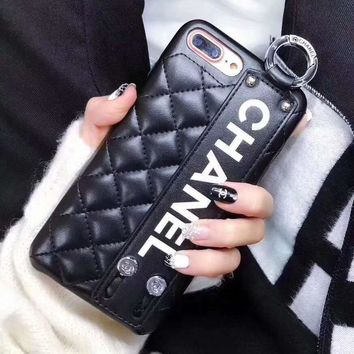 CHANEL Leather Fashion iPhone Phone Cover Case For iphone 6 6s 6plus 6s-plus 7 7plus 8 8plus X