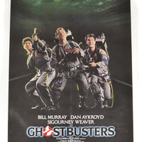 Vintage 80s Ghostbusters Movie Original Theatrical Poster Rolled
