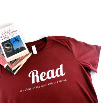 Read Adult Womens Tshirt Literature is Cool Reading Teacher Gift Idea