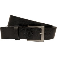 Lato Curved Handmade Leather Belt - Black