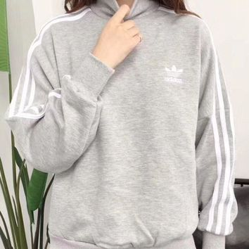 DCCKB62 Adidas trefoil 2017 female fashion leisure sports sweater hoody