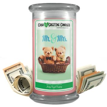 Mr. & Mrs. | Cash Greeting Candle