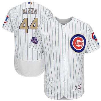 Men's Chicago Cubs Anthony Rizzo Majestic White 2017 Gold Program Flex Base Player Jersey