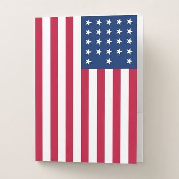 American Flag Patriotic Pocket Folder