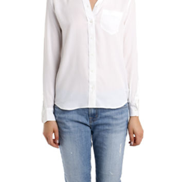 Equipment The Brett Blouse in Bright White