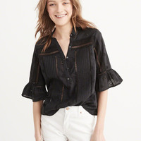 Womens Cutwork Blouse | Womens Clearance | Abercrombie.com