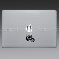 "Camera V3 decal sticker for MACBOOK pro mac laptop size 11"" 13"" 15"" Vintage Apple Canon Nikon SLR"
