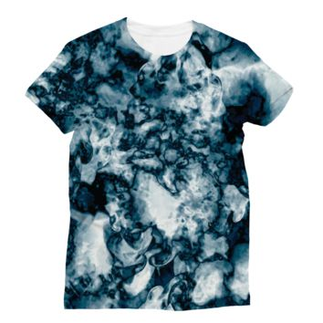 Black and White Swirling Smoke Subli Sublimation T-Shirt