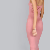 Pink Bodycon Spaghetti Dress