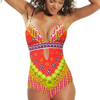 Trina Turk 2014 'Papaya Seychelles' One Piece | Orchid Boutique
