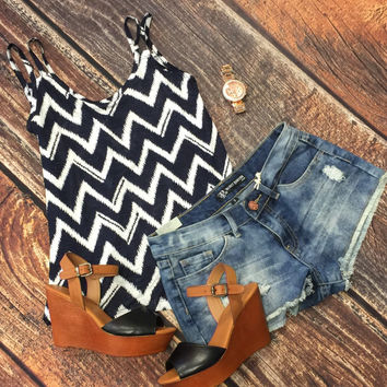 Chevron Tank: Navy