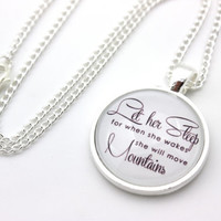 Let Her Sleep For When She Wakes She Will Move Mountains, Napoleon Quote Necklace
