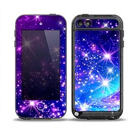 The Glowing Pink & Blue Starry Orbit Skin for the iPod Touch 5th Generation frē LifeProof Case