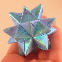 Origami Iridescent Blue Star Ornament by CreativeLifeByEmily