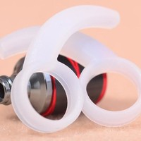 Promotions 2 Color Silicone Earphone ear hooks plugs earhook earplug for In-Ear Headphone 4pcs/lot Free shipping