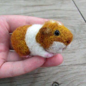 Needle felted guinea pig