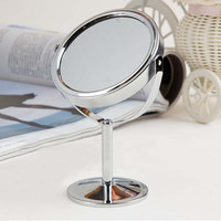 (Round) Hot Sale Lady Table Mirror Desk Standing Dresser Cosmetic Makeup Mirror Double Sided Magnification