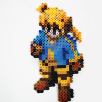 Final Fantasy Tactics Ramza perler bead sprite art - video game bead - geekery gift - gamer gifts - sprite magnet -