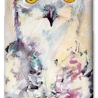 Snowy Owl Birds of Prey Watercolor iPhone 6 Case for Sale by Ginette Callaway