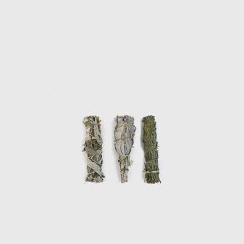 Small White Sage Smudge Bundle - Set of 3