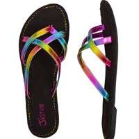 Rainbow Slide On Sandals