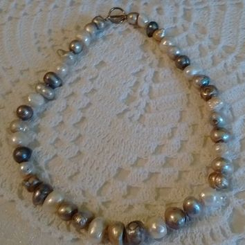 Freshwater Baroque Pearl Necklace: