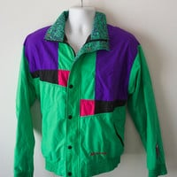 SALE! Vintage 80s Sea-Doo Windbreaker Bombardier Jacket Abstract Colorful Nickelodeon 90s Hipster Rare Jacket 1980s 1990s Futuristic Rave