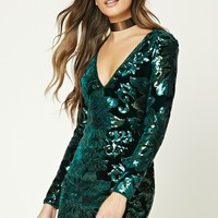 Sequined Velvet Bodycon Dress