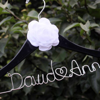 hanger with flower, coral flower hanger, bride hanger flower bridal hanger,The flower hanger, Bridal hanger with coral flower,